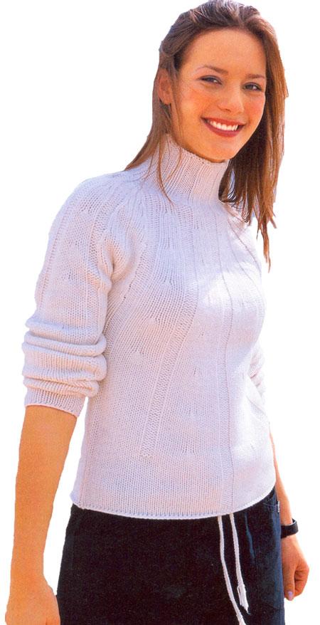 Пуловер с ажурными дорожками доставка