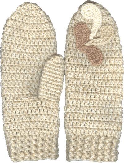 Варежки крючком - Вязание